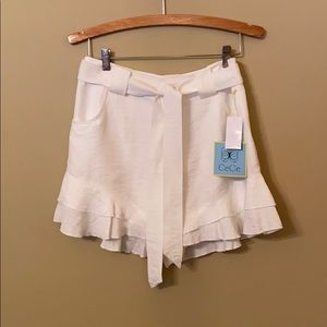 Ruffle Shorts by CeCe in Cream Color. Size 4. BNWT